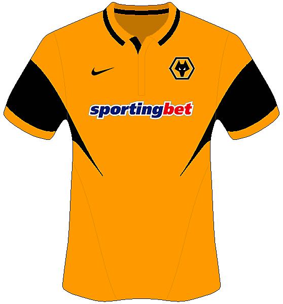Wolverhampton Wandrers Home - Nike Shirt