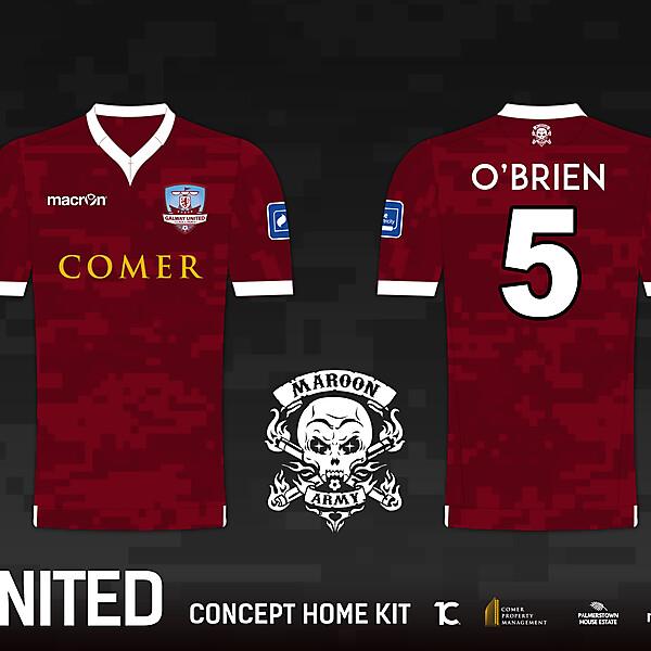 Galway United FC 'Maroon Army' Home Kit - Macron