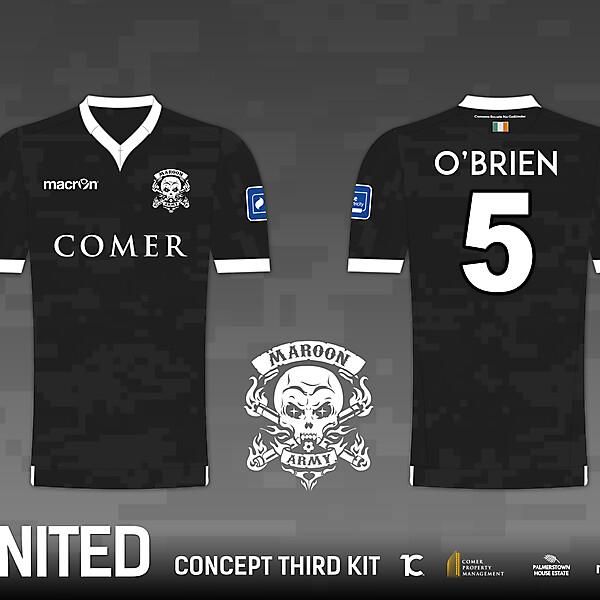 Galway United FC 'Maroon Army' Third Kit - Macron