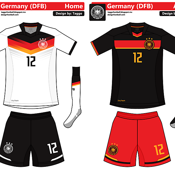 Germany Home and Away Kits (Full Edit)