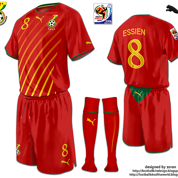 Ghana World Cup 2010 fantasy away