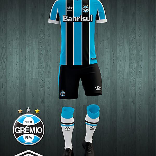 Grêmio 2016-17 home kit