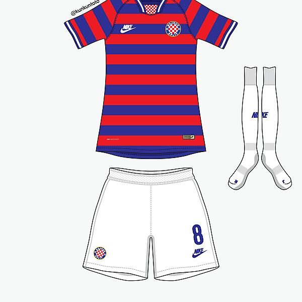 Hajduk Split away kit by @kunkuntoto