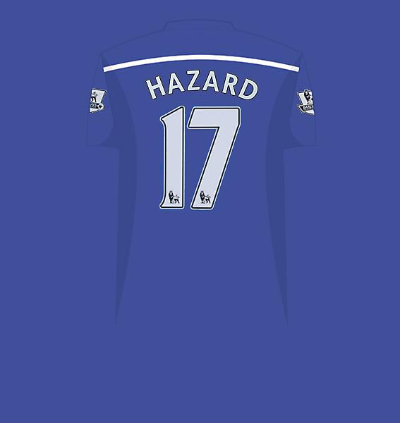 Hazard home jersey 14-15