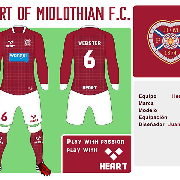 Heart of Midlothian FC Kit
