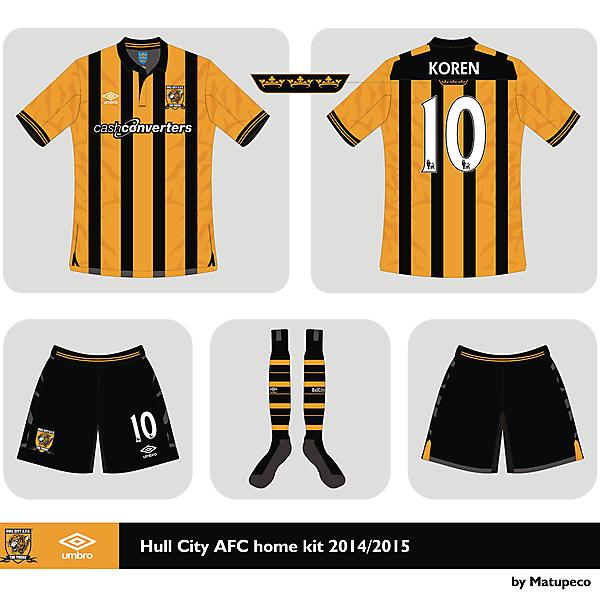 Hull City AFC Umbro home shirt 2014 2015