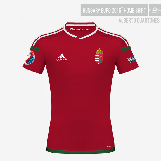 Hungary UEFA EURO 2016™ Home Shirt Final