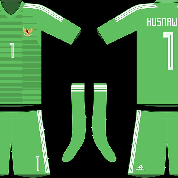 Indonesia x Adidas 2019-20 goalkeeper kit #1