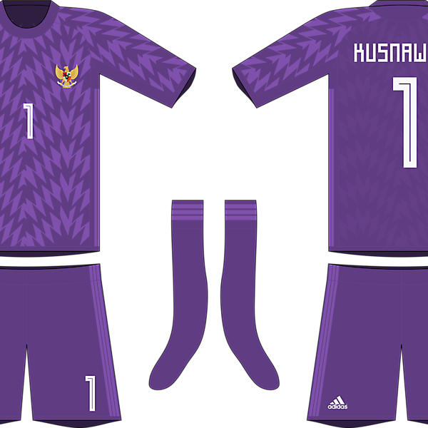 Indonesia x Adidas 2019-20 goalkeeper kit #2