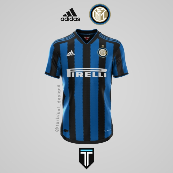 Inter Milan x Adidas - Home Kit Concept