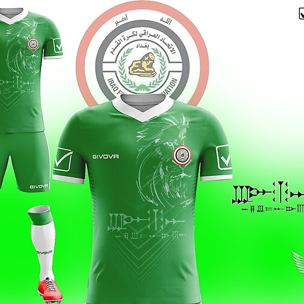 Iraqi team kit of my design
