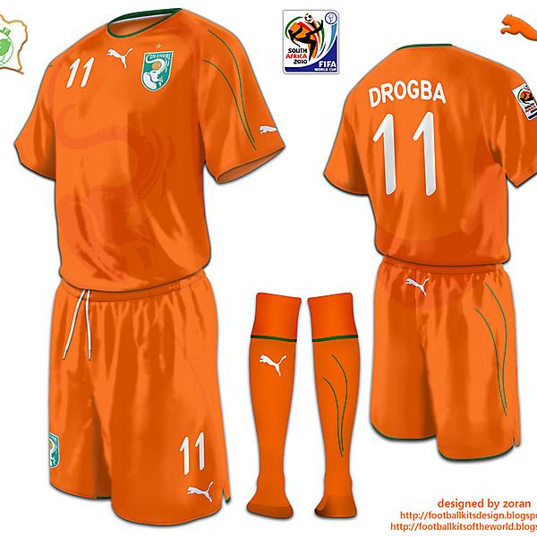 Ivory Coast World Cup 2010 fantasy home