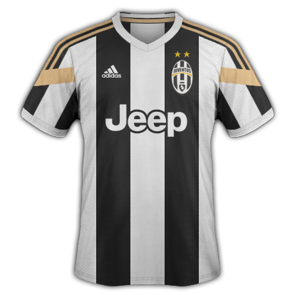 Juventus Home kit 2014/15 with Adidas