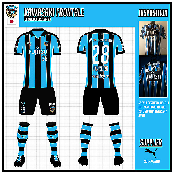 Kawasaki Frontale Home Kit (League)