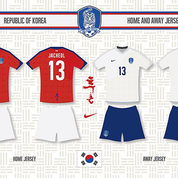 KOREA home and away jersey [edit]