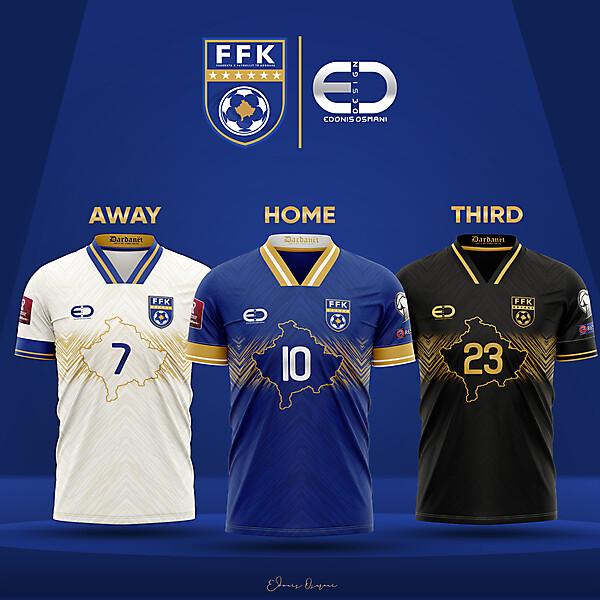 KOSOVOxEO - Kosovo kits and logo - FFK Logo and kits