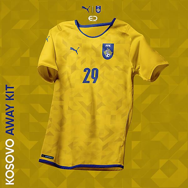 KOSOVOxPUMA - Design by EO - AWAY Kit - FFK logo & kits