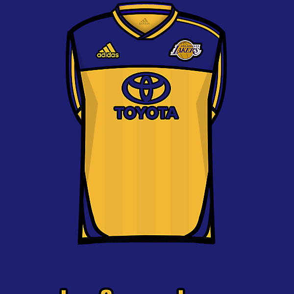 L.A.Lakers soccer team home kit