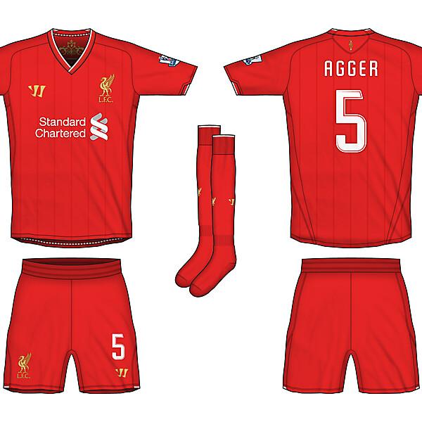 Liverpool Warrior Home & Away Kits