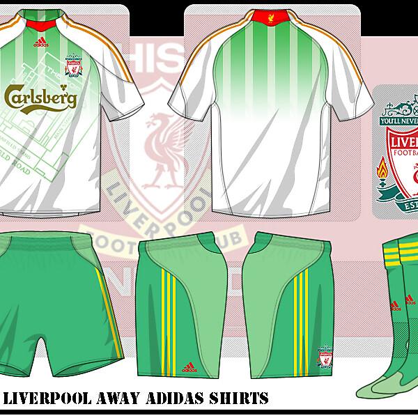 Liverpool away shirts