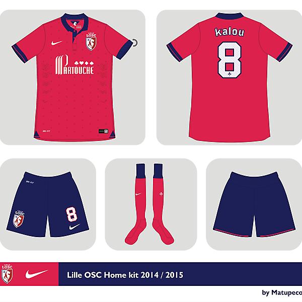Lille OSC home kit 2014 - 2015