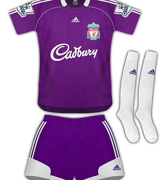 Liverpool Away Kit 09/10
