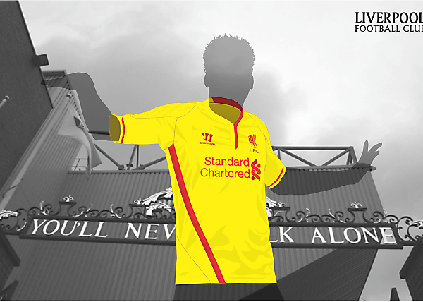 Liverpool FC away kit by Warrior