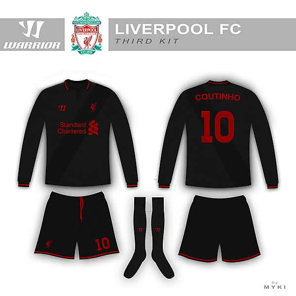 Liverpool Third Kit warrior