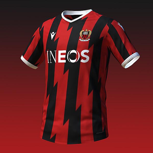 macron OGC Nice Home Shirt Concept