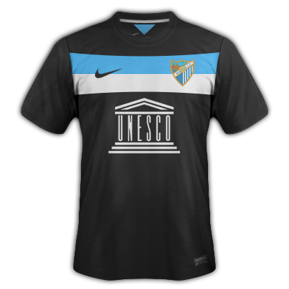 Malaga Third kit for 2014/15 with Nike
