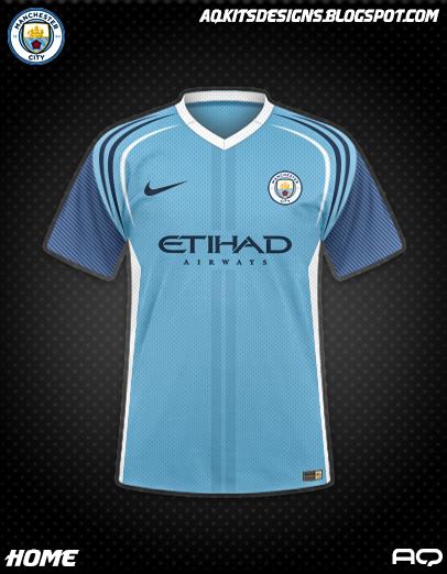 Man City Season 17/18 Kit Design By AQ