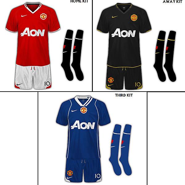 Manchester United Full Set Of Fantasy Kits