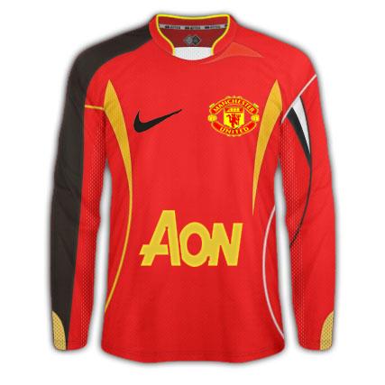 Manchester United' home kit