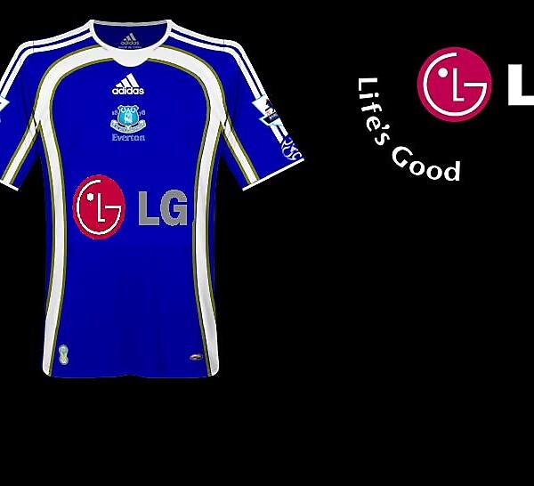 new Everton kit 2009/10