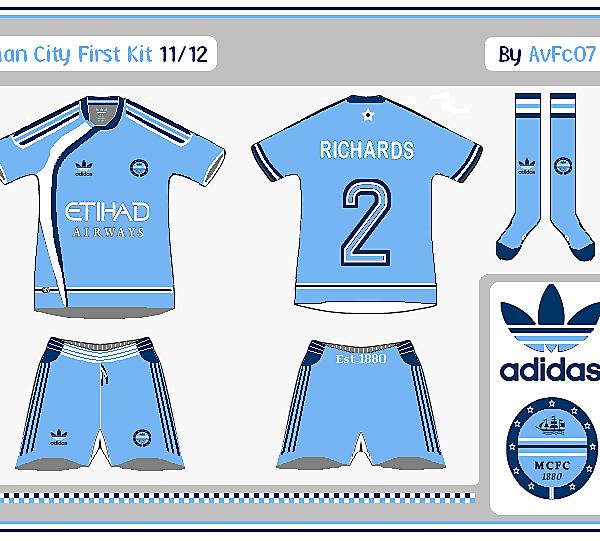 Man City First & Change Kits