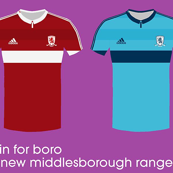 Middlesborough 14/15 kits by adidas