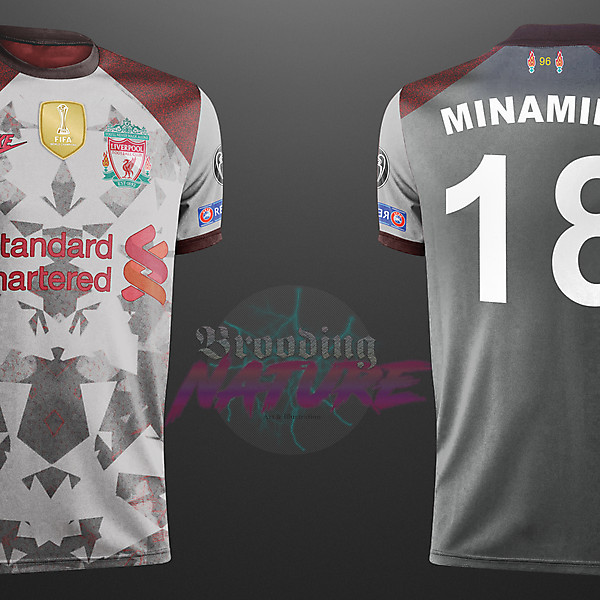 Minamino number 18 LFC nike away concept