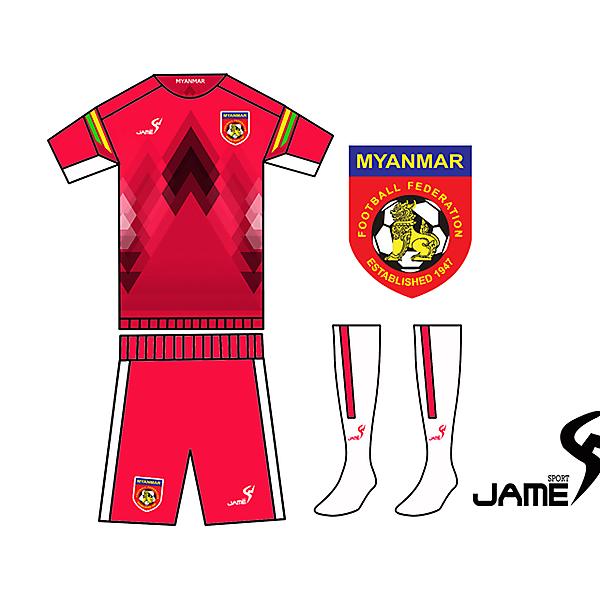 MYANMAR KIT NEWJERSEY 2016  JAME SPORT DEsigner
