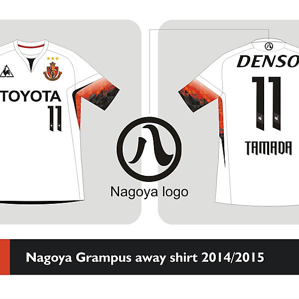 Nagoya Grampus Away shirt 2014 2015