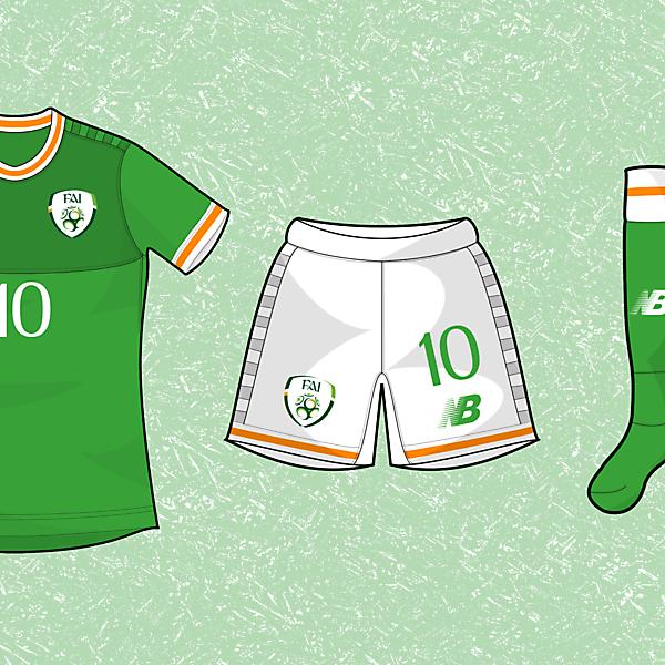 NB Ireland Home kit - 1 Year on DesignFootball