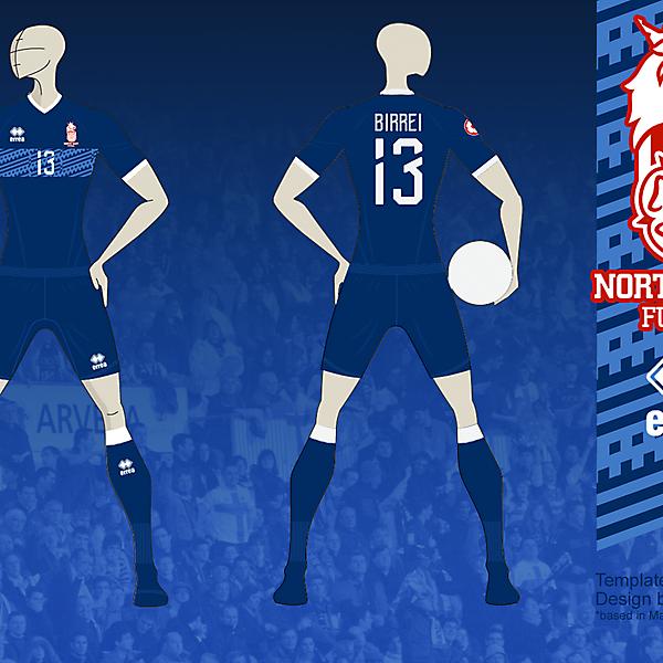 NE FUTSAL Away kit 02, based in Matupeco's crest v01