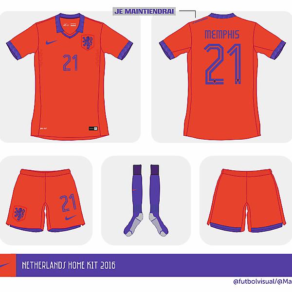 Netherlands Euro home shirt 2016 // Prediction //