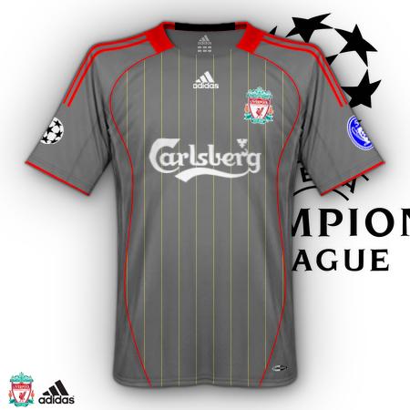 New away Liverpool shirt