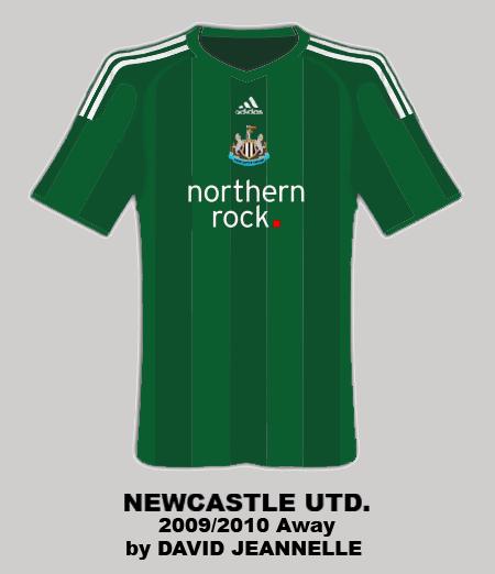 Newcastle Away 2009/2010