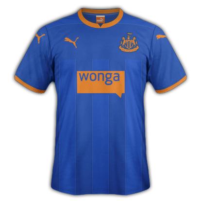 Newcastle United Away kit for 2014/15 with Puma