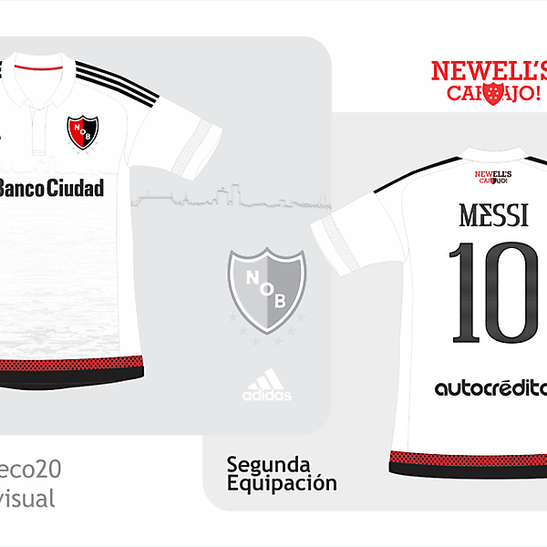 Newell's Old Boys away kit Adidas + Messi