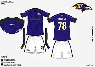 #NFLtoSoccerProject - Baltimore Ravens (Home)