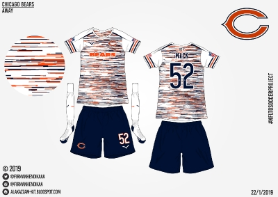 #NFLtoSoccerProject - Chicago Bears (Away)