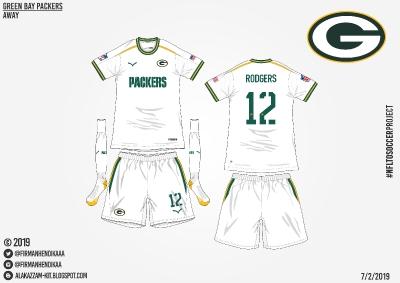 #NFLtoSoccerProject - Green Bay Packers (Away)