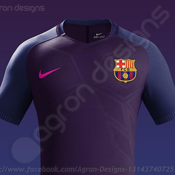 Nike Fc Barcelona Away Kit 2016-17 based on leaked images